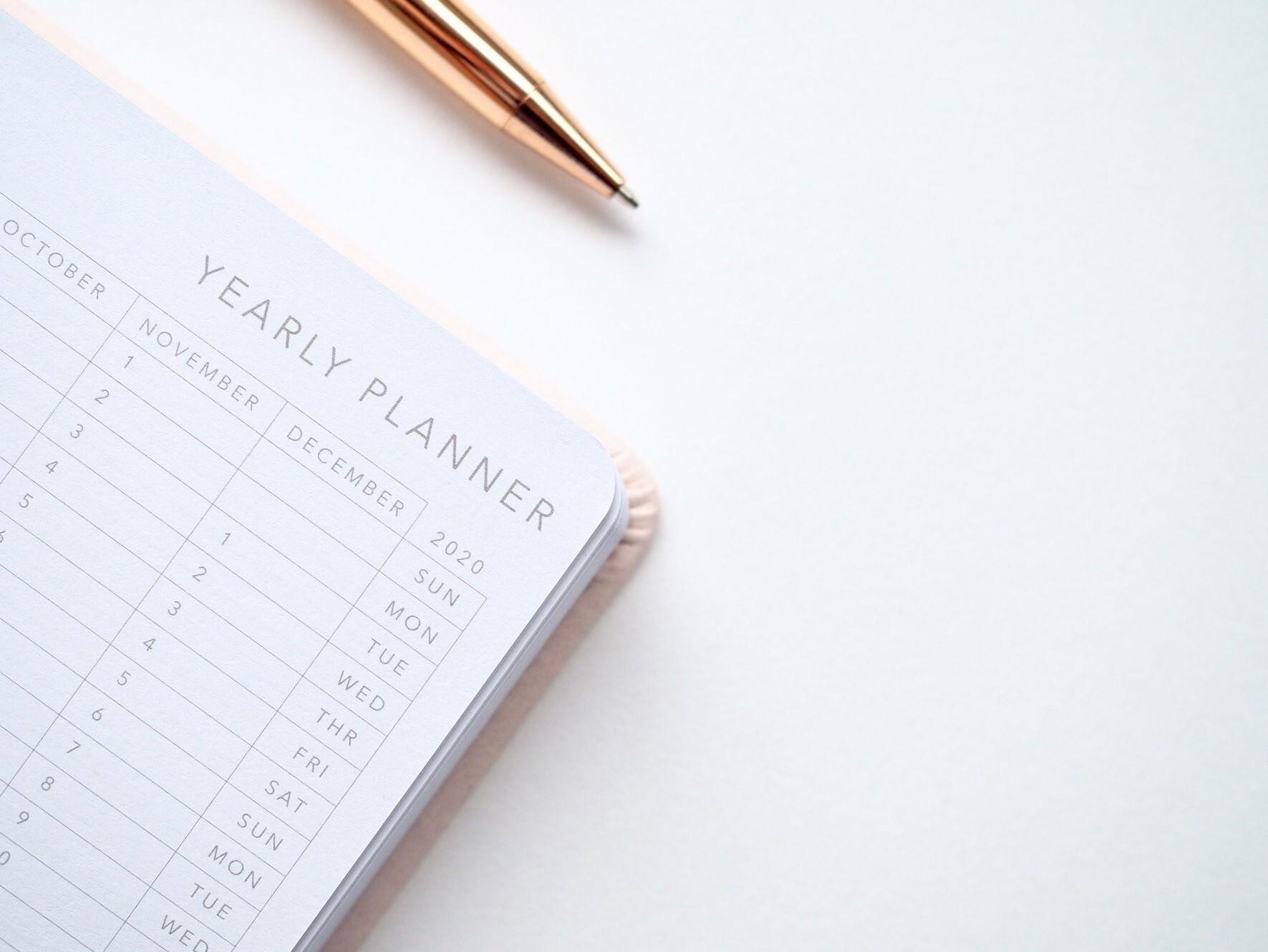 Yearly Planner 2020 Calendar Schedule